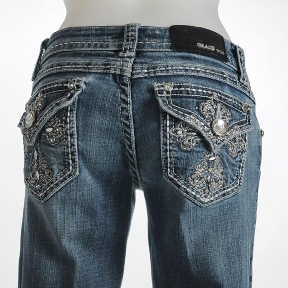 Grace Denim - Grace in LA Beaded Jeans Size 26